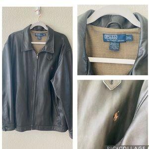 Ralph Lauren men leather jacket